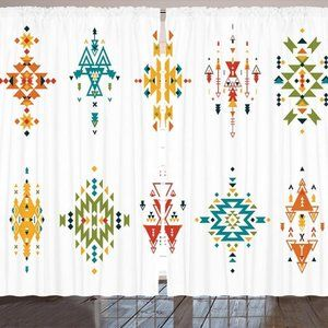 "Curtains 108""W x 84""L Abstract Tribal Backdrop"